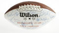 Football Collectibles:Balls, 1984 San Francisco 49ers Team Signed Football. The Super Bowl Champion San Francisco 49er squad from the 1984 season have c...