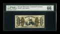Fractional Currency:Third Issue, Fr. 1345 50¢ Third Issue Justice PMG Gem Uncirculated 66 EPQ....