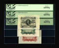 Fractional Currency:Third Issue, Fr. 1236/38SP 5c Third Issue Wide Margin Set of Three PCGS Gem New 65PPQ/66PPQ/66PPQ.... (Total: 3 notes)