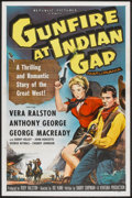 "Movie Posters:Western, Gunfire at Indian Gap (Republic, 1957). One Sheet (27"" X 41"") Flat-Folded. Western.. ..."