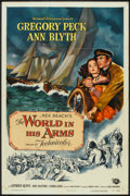 "Movie Posters:Adventure, The World in His Arms (Universal International, 1952). One Sheet(27"" X 41""). Adventure.. ..."