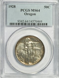Commemorative Silver: , 1928 50C Oregon MS64 PCGS. PCGS Population (493/1000). NGC Census:(212/896). Mintage: 6,028. Numismedia Wsl. Price for NGC...