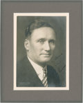 Autographs:Photos, 1920's Walter Johnson Signed Studio Portrait Photograph....