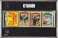 Baseball Cards:Other, 1972 Topps Baseball GAI-Graded Rack Pack Showing Three HoFCards!...