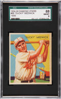 Baseball Cards:Singles (1930-1939), 1934 Diamond Stars Ducky Medwick #66 SGC 88 NM/MT 8....