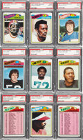 Football Cards:Lots, 1977 Topps Mexican Football Graded PSA Mint 9 Collection (19). ...
