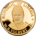 Liberia, Liberia: Republic gold Proof Set 1976.... (Total: 3 coins)