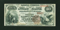 National Bank Notes:Oklahoma, Alva, OT - $10 1882 Brown Back Fr. 490 The Exchange NB Ch. # 5587. ...