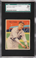Baseball Cards:Singles (1930-1939), 1934 Diamond Stars Ted Lyons #43 SGC 88 NM/MT 8....