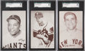 Baseball Cards:Lots, 1947-1966 Exhibit Baseball Hall of Famers SGC 96 Mint 9 Trio(3)....