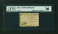 Colonial Notes:North Carolina, North Carolina April 2, 1776 $1/2 Bear PMG Very Fine 20....