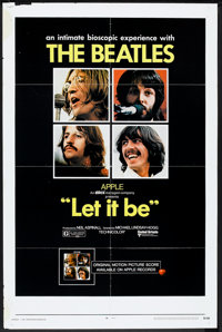 """Let It Be (United Artists, 1970). One Sheet (27"""" X 41""""). Rock and Roll"""