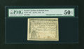 Colonial Notes:North Carolina, North Carolina April 2, 1776 $3 Beehive PMG About Uncirculated 50EPQ....