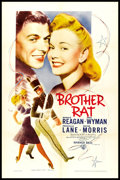 "Movie Posters:Romance, Brother Rat (Warner Brothers, R-1940s). One Sheet (27"" X 41""). Romance.. ..."