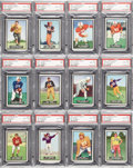 Football Cards:Sets, 1951 Topps Magic Football Unrubbed Complete Set (75) - #1 on the PSA Set Registry!....