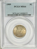 Liberty Nickels: , 1909 5C MS64 PCGS. PCGS Population (181/76). NGC Census: (124/47).Mintage: 11,590,526. Numismedia Wsl. Price for NGC/PCGS ...