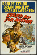 """Movie Posters:War, Stand By For Action (MGM, 1943). One Sheet (27"""" X 41"""") Style B.War.. ..."""
