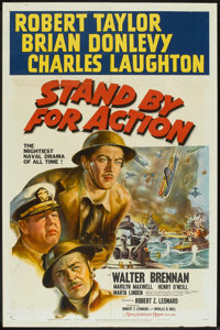 """Stand By For Action (MGM, 1943). One Sheet (27"""" X 41"""") Style B. War"""