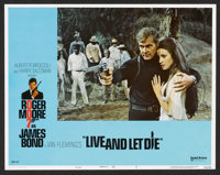 "Live and Let Die (United Artists, 1973). Lobby Card Set of 8 (11"" X 14""), Program (7.5"" X 12""), and..."