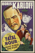 """Movie Posters:Mystery, The Fatal Hour (Monogram, 1940). One Sheet (27"""" X 41""""). Mystery....."""