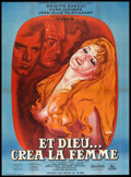 "Movie Posters:Drama, And God Created Woman (Cocinor, R-1964). French Grande (47"" X 63""). Drama.. ..."