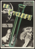 "Movie Posters:Horror, Doctor Cyclops (Paramount, 1940). Swedish One Sheet (27.5"" X39.5""). Horror.. ..."