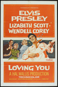 "Loving You (Paramount, 1957). One Sheet (27"" X 41""). Elvis Presley"