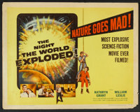 """The Night the World Exploded! (Columbia, 1957). Half Sheet (22"""" X 28""""). Science Fiction"""