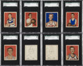 Basketball Cards:Lots, 1948 Bowman Basketball SGC-Graded Collection (8)....