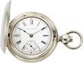 Timepieces:Pocket (pre 1900) , Aurora Five Ounce Coin Silver Key Wind, circa 1884. ...