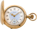 Timepieces:Pocket (pre 1900) , Elgin 18 Size Fancy Dial Hunters Case, circa 1899. ...