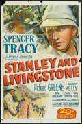 """Movie Posters:Adventure, Stanley and Livingstone (20th Century Fox, 1939). Re-Issue OneSheet (27"""" X 41"""") Style A and Original Release Pressbook (Mul...(Total: 2 Items)"""