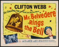 "Mr. Belvedere Rings the Bell (20th Century Fox, 1951). Half Sheet (22"" X 28"") and Lobby Cards (4) (11"" X..."