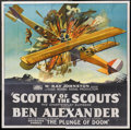 "Movie Posters:Serial, Scotty of the Scouts (Rayart Pictures, 1926). Six Sheet (81"" X 81"") Episode 3--""The Plunge of Doom"". Serial.. ..."