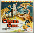 "Movie Posters:Adventure, Circus Girl (Republic, 1956). Six Sheet (81"" X 81"") Flat Folded.Adventure.. ..."