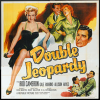 "Double Jeopardy (Republic, 1955). Six Sheet (81"" X 81""). Thriller"