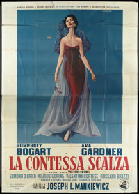 "The Barefoot Contessa (Dear Film, R-1950s). Italian 4 - Folio (55"" X 78""). Drama"