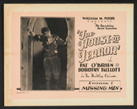 """The House of Terror (William Pizor, 1928). Lobby Card Set of 8 (11"""" X 14""""). Serial. ... (Total: 8 Items)"""