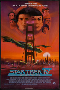 """Star Trek IV: The Voyage Home & Other Lot (Paramount, 1987). One Sheets (2) (27"""" X 40"""" & 27&qu..."""