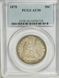 Seated Half Dollars: , 1878 50C AU50 PCGS. PCGS Population (4/82). NGC Census: (2/66).Mintage: 1,378,400. Numismedia Wsl. Price for NGC/PCGS coin...