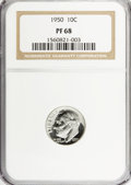 Proof Roosevelt Dimes: , 1950 10C PR68 NGC. NGC Census: (41/0). PCGS Population (4/0).Mintage: 51,386. Numismedia Wsl. Price for NGC/PCGS coin in P...