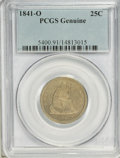 Seated Quarters, 1841-O 25C --Artificial Toning--PCGS Genuine. Mintage: 452,000.(#5400)...