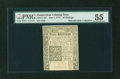 Colonial Notes:Connecticut, Connecticut June 1, 1775 40s Uncanceled PMG About Uncirculated55....