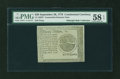 Colonial Notes:Continental Congress Issues, Continental Currency September 26, 1778 $20 Blue CounterfeitDetector PMG Choice About Unc 58 EPQ....