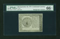 Colonial Notes:Continental Congress Issues, Continental Currency September 26, 1778 $40 Blue CounterfeitDetector PMG Gem Uncirculated 66 EPQ....
