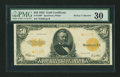 Large Size:Gold Certificates, Fr. 1200 $50 1922 Gold Certificate Star Note PMG Very Fine 30....