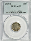 Barber Dimes: , 1905-O 10C AU53 PCGS. PCGS Population (5/116). NGC Census: (1/126).Mintage: 3,400,000. Numismedia Wsl. Price for NGC/PCGS ...