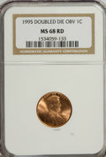 Lincoln Cents: , 1995 1C Doubled Die Obverse MS68 Red NGC. PCGS Population (2640/1).Numismedia Wsl. Price for NGC/PCGS ...