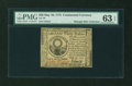 Continental Currency May 10, 1775 $30 PMG Choice Uncirculated 63 EPQ