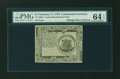 Colonial Notes:Continental Congress Issues, Continental Currency February 17, 1776 $1 PMG Choice Uncirculated64 EPQ....